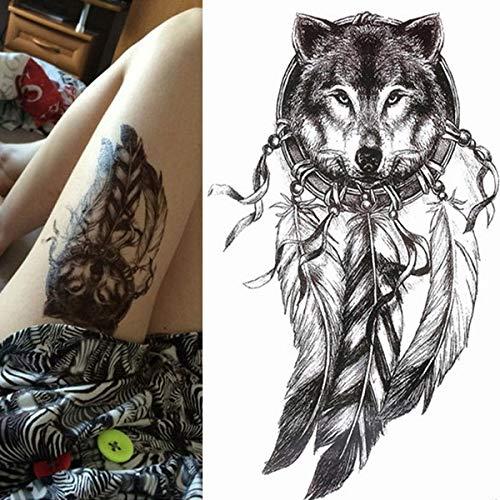 Handaxian 3pcs-Leopard Tattoo wasserdicht temporäre Tattoo Aufkleber Tiger Tattoo weiblich männlich temporäre Tattoo 3pcs-17 -