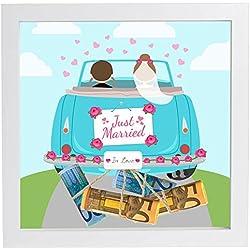 Hochzeitsgeschenk Geldgeschenk Bilderrahmen mit Motiv - Hochzeit Geschenk