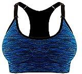 ILOVEDIY Sujetador Deportivo Con Relleno Push up para Yoga Correr Fitness (L, Azul Real)