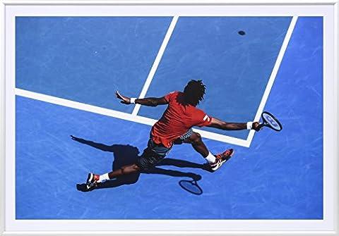Premium Tennis Cadeau: Art Photographie dans un cadre de