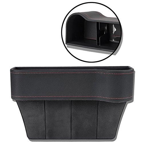 Autositz Seiten Schlitz Taschen Auto-Sitzablagefach Organizer für Auto füllt Lücken Zwischen den Sitzen, schwarz (Cruiser-sitz-tasche)