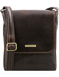 Tuscany Leather - San Marino - Sac de voyage en cuir avec poches frontales Marron - TL10180/1