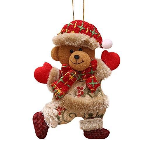 Ears Weihnachten Wohnkultur Weihnachtsschmuck Geschenk Hang Dekorationen Weihnachtsmann Schneemann...