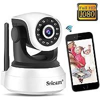 Sricam Cámara de Vigilancia, Cámara IP Wifi Calidad 1080P ,Cámara seguridad wifi Interior Inalámbrico
