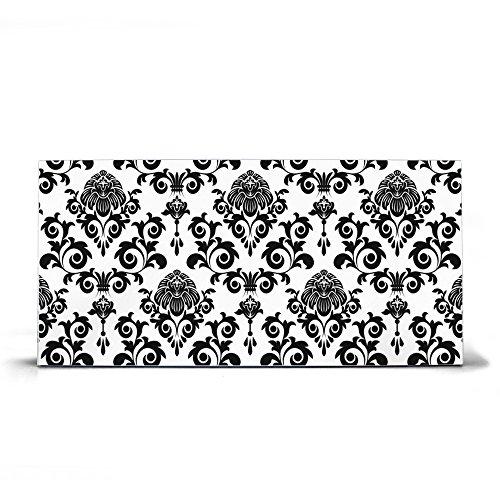 BANJADO Design Magnettafel silber, Wandtafel magnetisch 37cm x 78cm, Metall Pinnwand, Memoboard mit...