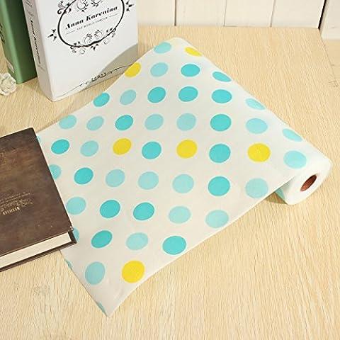Bluelover Póngase en contacto con papel Color punto forro Mat cocina mantel estante escritorio gabinete Pad estante papel cajón-punto