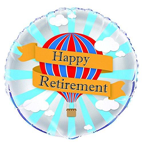 Unique Party Supplies 45,7cm Folie Hot Air Happy Retirement Ballon
