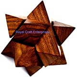 Wooden Star Puzzle Toys Game For Kids Wooden Toys For Family And Travel Royal Craft Enterprises (Star Puzzle)