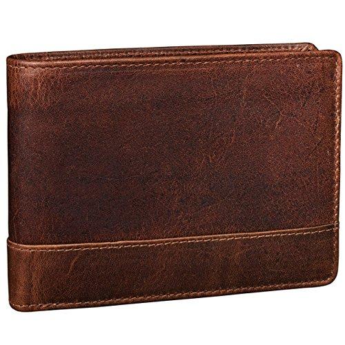 STILORD 'Lucius' Vintage Herren Geldbörse Leder braun / Portemonnaie / Brieftasche aus hochwertigem, robustem Antik Leder, kara - braun