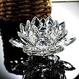 Xshuai Wohnaccessoires Lotus Kristall Glas Figur Briefbeschwerer Ornament Feng Shui Dekor Kollektion Mode neu (mehrfarbig) (A)