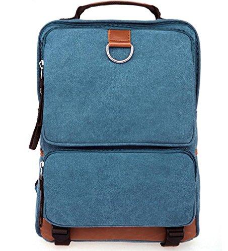 &ZHOU Borsa di tela, Borsa di tela borsa a tracolla grande capacità viaggio Borse retro moda casual, casual, borse computer, unisex , black days blue
