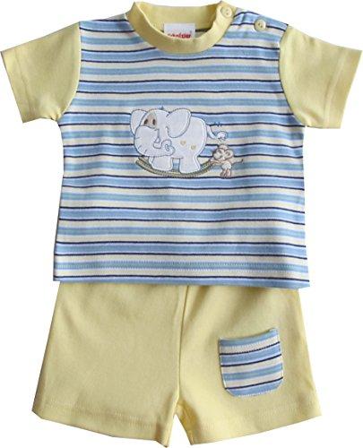 Schnizler Elefant mit T-Shirt geringelt und Shorts - Set De Vêtements Garçon, Multicolore (original 900), 56 Schnizler