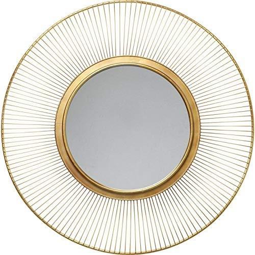 Kare Design Spiegel Sun Storm Gold, Ø93 cm, edler Spiegel mit feinem Rahmen in gold, Spiegel rund
