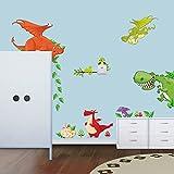 ufengke® Cartoon-Dinosaurier Park Niedlichen Dinosaurier Wandsticker, Kinderzimmer Babyzimmer Entfernbare Wandtattoos Wandbilder