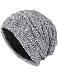 Yying Sombrero de Gorrita Tejida para Hombre Gorro de Lana de Invierno de  Color sólido Sombrero 34f131bea2c