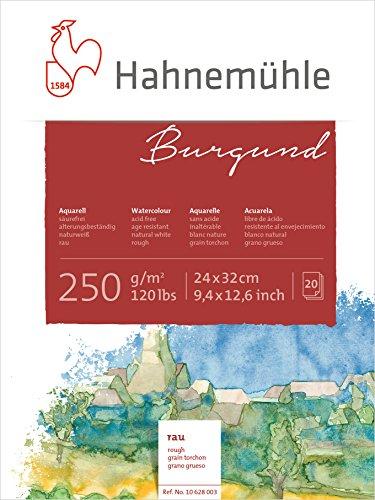 Hahnemühle Aquarellkarton Burgund, rau, 250 g/m², 24 x 32 cm, 20 Blatt