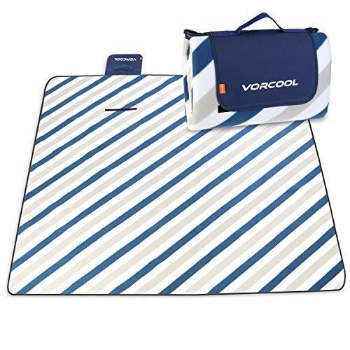 VORCOOL Picknickdecke 200x200cm Wasserdicht mit Tragegriff für Picknicks, Camping -