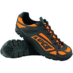 Zapatillas de Ciclismo LUCK Predator 18.0,con Suela de EVA Ideal para Poder adaptarte a Cualquier Terreno y disciplina Deportiva. (48 EU , naranja)