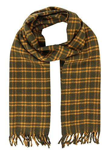 likemary HANDGEWEBT Tweed Merino Wolle Plaid Schal Gr. onesize, gelb -