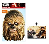Chewbacca Official Star Wars Single Karte Partei Gesichtsmasken (Maske) Enthält 6X4 (15X10Cm) starfoto