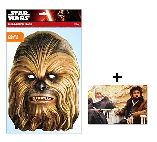 Chewbacca Official Star Wars Single Karte Partei Gesichtsmasken (Maske) Enthält 6X4 (15X10Cm) (Chewbacca Star Wars Kostüm Uk)