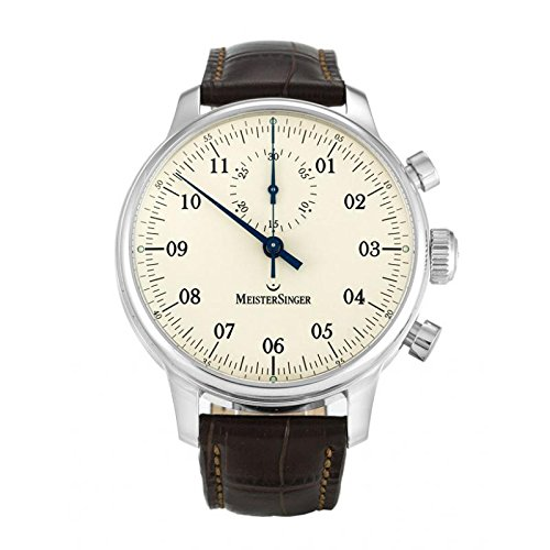 MeisterSinger Men's Automatic Watch MM403SINGULAR Quandrante Cream Steel Polycarbonate Strap