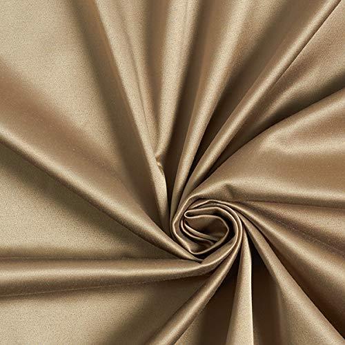 Fabulous Fabrics Stretch Satin - altgold - Meterware ab 0,5m - zum Nähen von Kleider, Röcke und Hosen