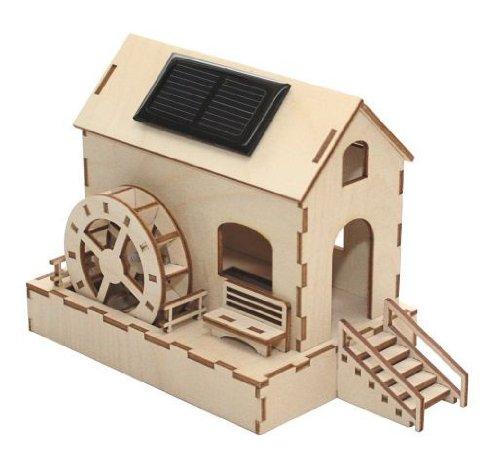 Wassermühle Solar-Bausatz f. Kinder Werkset Bastelset