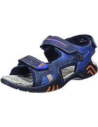 Chaussures Marron Avec Velcro Bout Rond Hommes Pablosky va08k2Ur