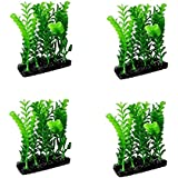 Aquarium Resin Artificial Plastic Plant Combo For Fish Tank Decoration (Pack Of 4)