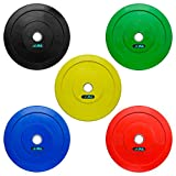 JLL® Coloured Olympic Bumper Weight Lifting Plates (2 x 5kg (10kg))