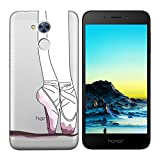 Coque Huawei Honor 6A,Huawei Honor 6A Etui TPU,ZHXMALL Premium Flexible Souple Silicone Ultra Mince Lége Transparent Case Slim Gel Couverture Housse Protection Anti rayures AntiChoc Pare-chocs Coque pour Huawei Honor 6A - Ballet