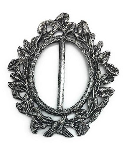Designer-stil-gürtelschnalle (Designer Antik Silber Gürtelschnalle Slider für Frauen Blume Stil -3.25-7cm Zoll (1-3/10,2cm Gürtel Größe))