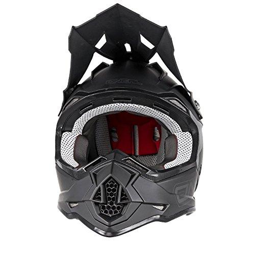 O'Neal 2Series RL MX Helm Flat Schwarz Matt Motocross Enduro Quad Cross ABS, 0200-11, Größe M (57/58 cm) -