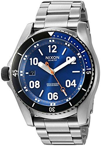 nixon-pour-homme-a9591258-00-descender-a-quartz-affichage-analogique-swiss-argent-montre