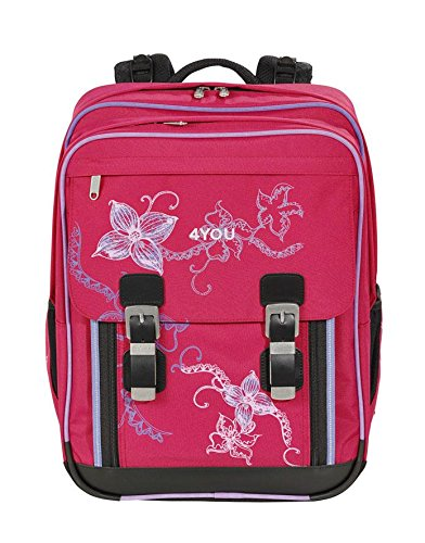4You Flash Schulrucksack Classic Plus 344 Flower Lace 344 flower lace