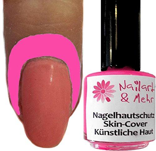 NAGELHAUTSCHUTZ SKIN-COVER ~NEON-PINK~ RUNDE 10ml-Pinselflasche: Hält die Nagelhaut beim Stempeln, Marbeling, Spongen, Airbrush usw sauber.