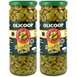 Olicoop Green Sliced Olive, 450g, Pack of 2, Produced in Spain
