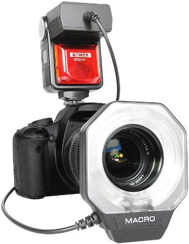 Bower sfd14s Digital Makro Ringblitz für Sony A100/200/230/290/300/330/350/380/390/450/500/560/550/700/850/900Digital SLR Kameras