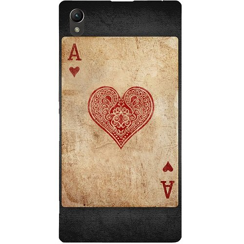 Casotec Vintage Heart Card Design Hard Back Case Cover for Sony Xperia Z1 L39H  available at amazon for Rs.149