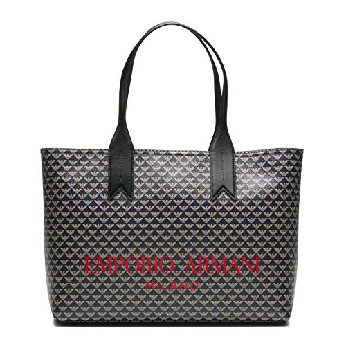 Emporio Armani Blu Ecru Nero Shopper Y3D099-YFG6A-83939