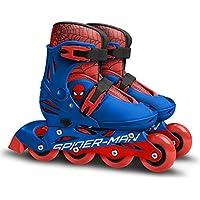 Stamp Sm250302 Spiderman Patines en línea Ajustables Tamaño 30 – 33, Boys, Azul, 30-33