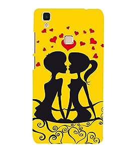 PrintVisa Designer Back Case Cover for Vivo V3 (boys girl story laptop skins)