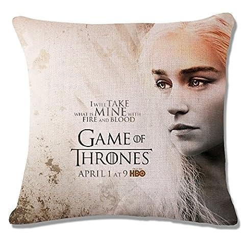 Game of Thrones Printed Cotton Linen Decorative Throw Pillow Case Sofa Home Decor Cushion Cover