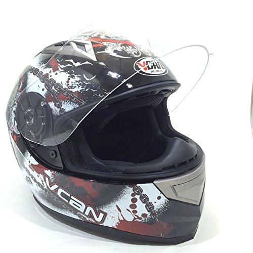 Vcan casco integrale moto da uomo v158 sould reaper adulti casco moto sportivi racing scooter ece approvato full face touring caschi integrali (s)