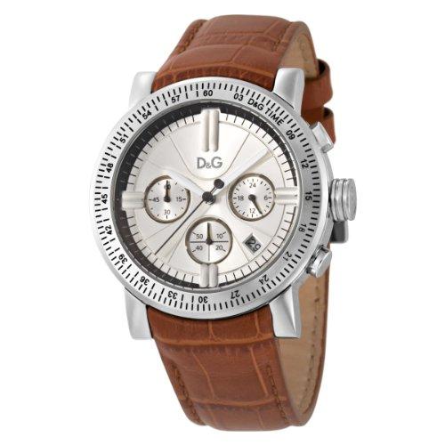 Dolce Gabbana - DW0485 - Montre Homme - Quartz - Chronographe - Bracelet Cuir Marron