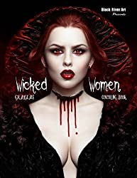 Wicked Women Grayscale Coloring Book 60 Pages Of Horror Or Halloween Fun