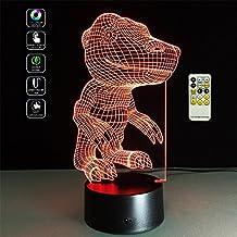 Deerbird® Para caminar Tyrannosaurus Dinosaurio Rex Creativo Criatura 3D acrílico visual tacto colorido Arte Decorado Hogar USB LED Niños Lámpara de Escritorio Noche Luz
