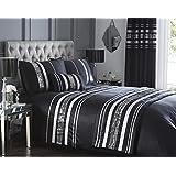 Negro moderno de edredón King size edredón y 2 fundas de almohada juego para cama notebookbits