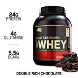 Optimum Nutrition Gold Standard 100% Whey, Suplemento para Deportistas (Doble Rico Chocolate), 2270 g